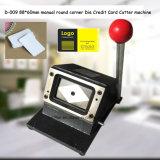 Угол D-009 88*60mm ручной круглый умирает машина резца кредитной карточки