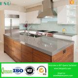 Pedra artificial cinzenta pura de quartzo para a bancada da cozinha