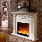 Mantel de lareira elétrica de madeira esculpida de luxo (GSP15-006)