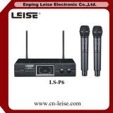 Ls-P6 Microfoon van de Kanalen van de goede Kwaliteit de Dubbele UHF Draadloze