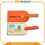 Étiquette personnalisée de bagage de cuir de logo d'impression