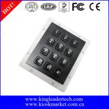 Galvanisierender schwarzer schroffer Edelstahl-Tastaturblock mit Hintergrundbeleuchtung