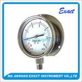 Tout l'indicateur de pression sec d'acier inoxydable, manomètre mécanique avec la bride