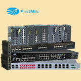 Interruptor industrial controlado gigabit do Ethernet