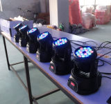 3W RGB que mueve la luz del club de la colada 18PCS LED de Heas