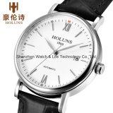 Reloj del acero inoxidable de los hombres suizos automáticos de Movment