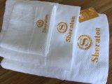 Luxuxbaumwolleweißes Sheraton Hotel-Stickerei-Tuch-Set