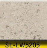 Le compteur artificiel de barre de cuisine de pierre de quartz conçoit le constructeur