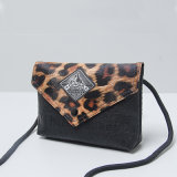 Le léopard modèle le sac à main noir de créateur d'unité centrale (M009)