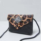 Leopard kopiert schwarze PU-Entwerfer-Handtasche (M009)