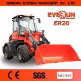 Everun 2 Ton Diesel Cargador hidráulico de ruedas con enganche rápido