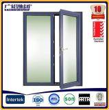 Cadre en aluminium Porte battante en verre / entrée Porte avant / porte battante et porte à charnière