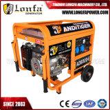 elektrischer Strom 6.5/7.0kVA beweglicher Prtrol Benzin-Generator mit Griff und Rädern