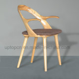 Cadeira de madeira da cinza especial da cavidade do projeto com Upholstery do plutônio (SP-EC632)