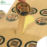 Transparente etiqueta personalizada Impresión vinilo auto-adhesivo de PVC / engomadas de papel (KG-PT003)