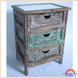 Gabinete de armazenamento de 3 gavetas com estilo de Woodcolored