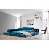 Голубая кровать ткани цвета для пользы спальни (FB8001)