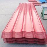 Folhas de telhado coloridas de aço / telhas onduladas PPGI
