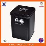 Quadratischer Form-Metalltee-Zinn-Kasten mit Metallmaterial