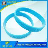 Kundenspezifischer Bildschirm gedrucktes Firmenzeichen mit Pantone Farben-Silikon-Schlüsselketten-Halter (XF-WB04)
