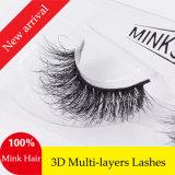 Cigli falsi dei nuovi di arrivo delle sferze 3D di Multi-Strati capelli Handmade lussuosi del visone