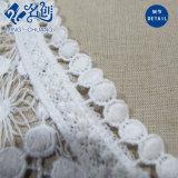 Weißer Sleeveless V-Stutzen glänzende Spitze-Form-Bluse