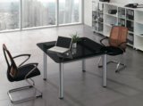 Table basse moderne de bureau de salle d'attente de conférence de grand dos noir