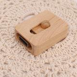Movimentação de madeira por atacado do flash do USB com seu logotipo