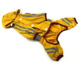 Комбинезон шестерни дождя напольного Doggie плаща Glisten щенка полиэфира водоустойчивого Four-Leg с капюшоном выровнянный для игрушечного, Pug, чихуахуа, Shih Tzu, Terriers Йоркшир
