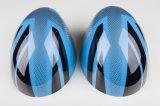 Cubierta protegida ULTRAVIOLETA plástica del espejo de la cara del reemplazo de 2014 del más nuevo modelo mini de Hardtop de unión de gato ABS azules del estilo para Mini Cooper F56