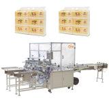 Tissu facial de serviette de presse semi automatique de papier empaquetant la machine à emballer