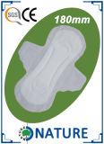 285mm China barata sentem o guardanapo sanitário livre para a senhora Utilização