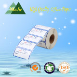 Validar el tipo papel revestido de la etiqueta engomada de la orden de encargo y del pegamento de la escritura de la etiqueta filmado con la escritura de la etiqueta de BOPP