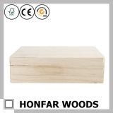Практически незаконченная сырцовая твердая деревянная упаковывая коробка подарка коробки