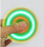 緑およびピンクのおもちゃLED指手のスピーカーの落着きのなさの紡績工