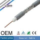 Câble de cuivre normal de moniteur de télévision en circuit fermé du câble RG6 75ohm coaxial de liaison de Sipu
