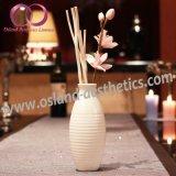 Diffusore caldo della canna della bevanda rinfrescante di aria di fragranza della casa di vendita con i bastoni del rattan ed il fiore di Sola in bottiglia di ceramica