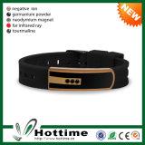 Umweltfreundliches Silikon-Armband mit Edelstahl (CP-JS-ND-008)
