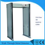 金属探知器のゲートUz800を通る33のゾーンの機密保護のアーチ道の戸枠の歩行