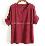 Camicia di cotone del `S delle donne di Green&Wine
