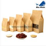 Grande sacchetto di imballaggio per alimenti della carta kraft Di possibilità con la finestra glassata