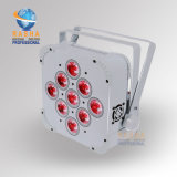 Hexuitdraai 6in1 Rgbaw UV 2.4 GHz van Rasha bouwde Draadloze LEIDEN Vlakke Slanke LEIDEN PARI in het Lichte LEIDENE Slanke PARI voor Disco Gebeurtenis met Powercon kan knuppelen