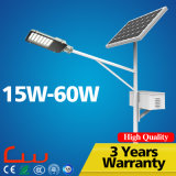 IP65는 40W 8m 태양 LED 가로등을 방수 처리한다