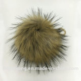 sfera della pelliccia del Pompom della pelliccia del Raccoon del Faux di 15cm