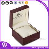 Изготовленный на заказ коробка вахты кожаный бумаги печати логоса деревянная