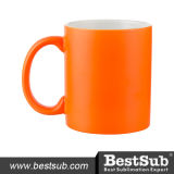 caneca 11oz fluorescente (laranja geada, avermelhada) (B11WJH)