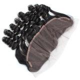 流行の巻き毛の人間の毛髪のレースの前部かつら