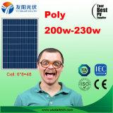 Mono poli 4bb 200W modulo di PV dei comitati solari di vendita calda in azienda agricola di riserva