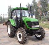 trattore agricolo del giardino dell'azionamento della rotella 110HP 4 con il prezzo anteriore del caricatore