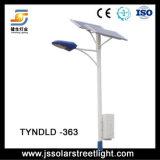 Lámpara de calle solar con el rectángulo de batería en el Poloe